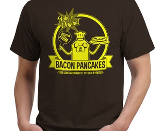 bacon pancakes adventure time jake the dog funny t shirt tee