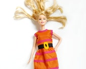 Cynthia Doll Dress– Barbie Clothes – Storybook Doll Dress – Barbie Fashion - Orange Dress for Doll - Barbie Outfit inspired by Rugrats