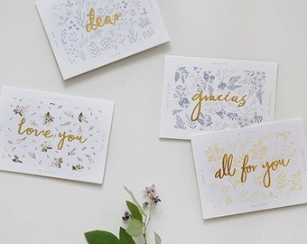 1 x Blank Card SET / Message Card / 4 Type