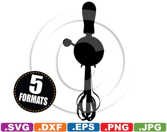 Hand Mixer Silhouette ~ Hand mixer egg beater silhouette clip art svg dxf vinyl