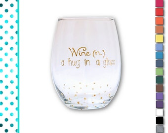 Stemless Wine Glasses, Funny, Wine Glasses, Custom