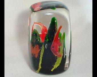 Ocean Reef Fish Vintage Glass Paperweight