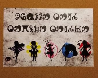 Puella Magi Madoka Magica Minimalist Poster Parody