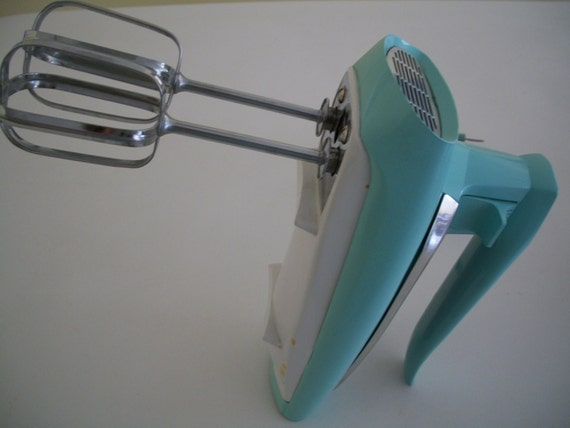 Portable Electric Mixer ~ Portable electric hand mixer turquoise general
