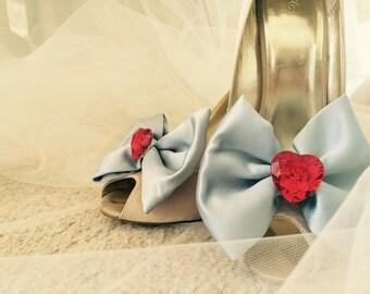 Dorothy Love Heart Jewell Shoe Clips