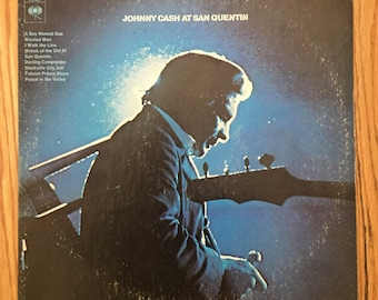 Johnny Cash at San Quentin vintage vinyl record in very good condition