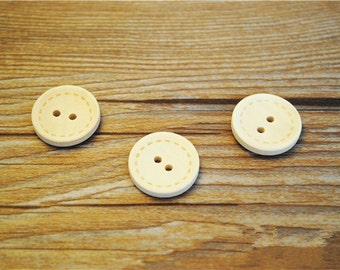 100pcs 13mm Round Wood Buttons 2 Holes Wood Sewing Buttons Wood Button NK0102