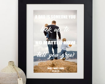 Dad And Children Photo Print