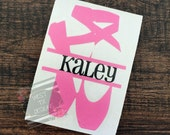 Ballet Decal | Dance Decal | Personalized Dance Decal | Personalized Ballet Decal | Sports Decal | Water bottle Decal | Ballet Shoes Decal