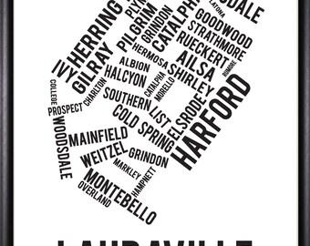 Lauraville Baltimore Neighborhood Street Print