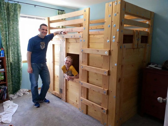 Twin Cabin Bed Plans The Bed Fort