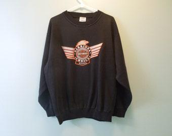 SALE 90s Harley Davidson Bosnia Crew Neck Sweatshirt