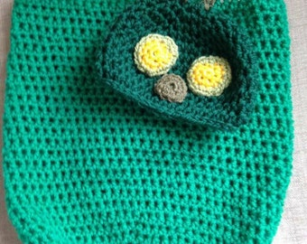 Caterpillar Baby Hat and Cocoon Crochet Set