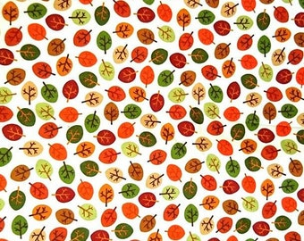 Fabric Cot, 100% cotton, fabric fall, autumn leaves