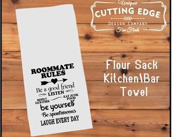 Roommate Rules Flour Sack Towel