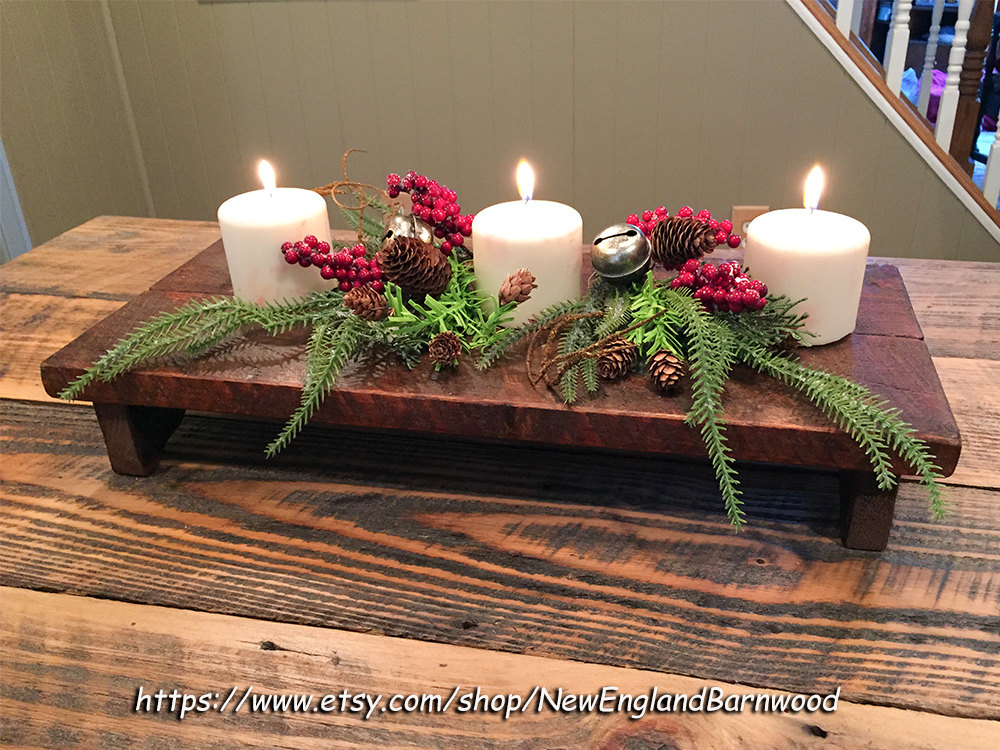 Rustic table riser centerpiece display