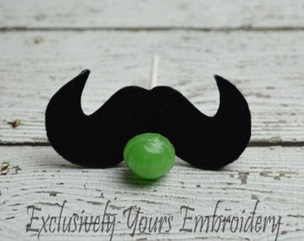 Mustache Sucker Holder - Small Gift - Class Party Gift - Valentine's Day - Lollipop Holder - Party Favor - Thank You Gift - Party Supplies