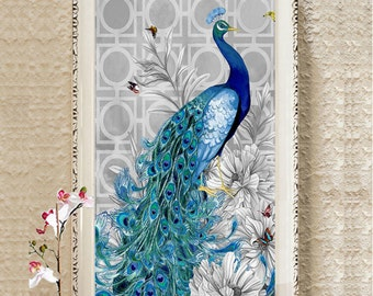 Crystals Diamond Painting Cross Stitch Rhinestone Painting Pasted Paint By Number Kits Peacock