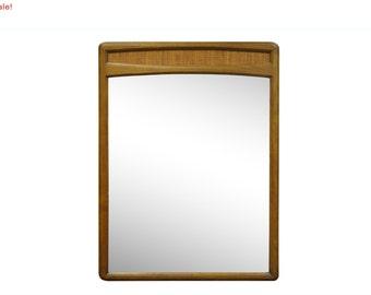 10% Off Sale! Vintage Mid Century Modern Modernist Lane Walnut Cane Wall Dresser Mirror Danish Style