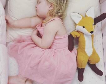 Heirloom keepsake Waldorf woodland plush recycled fox doll toy
