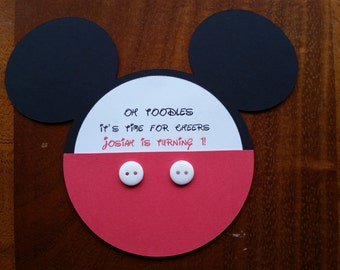 Mickey/Minnie Mouse Inviations