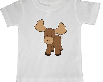 Cute Moose Baby T-Shirt by Inktastic
