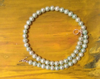 Potato Pearl Necklace with 925 Sterling Silver Findings