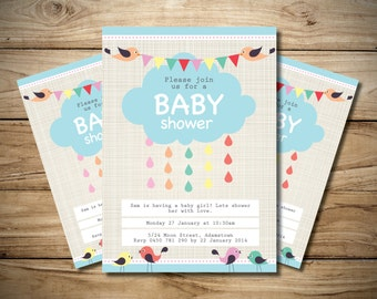 Baby shower Cloud Invitation
