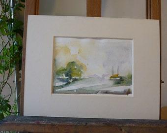original watercolor: landscape