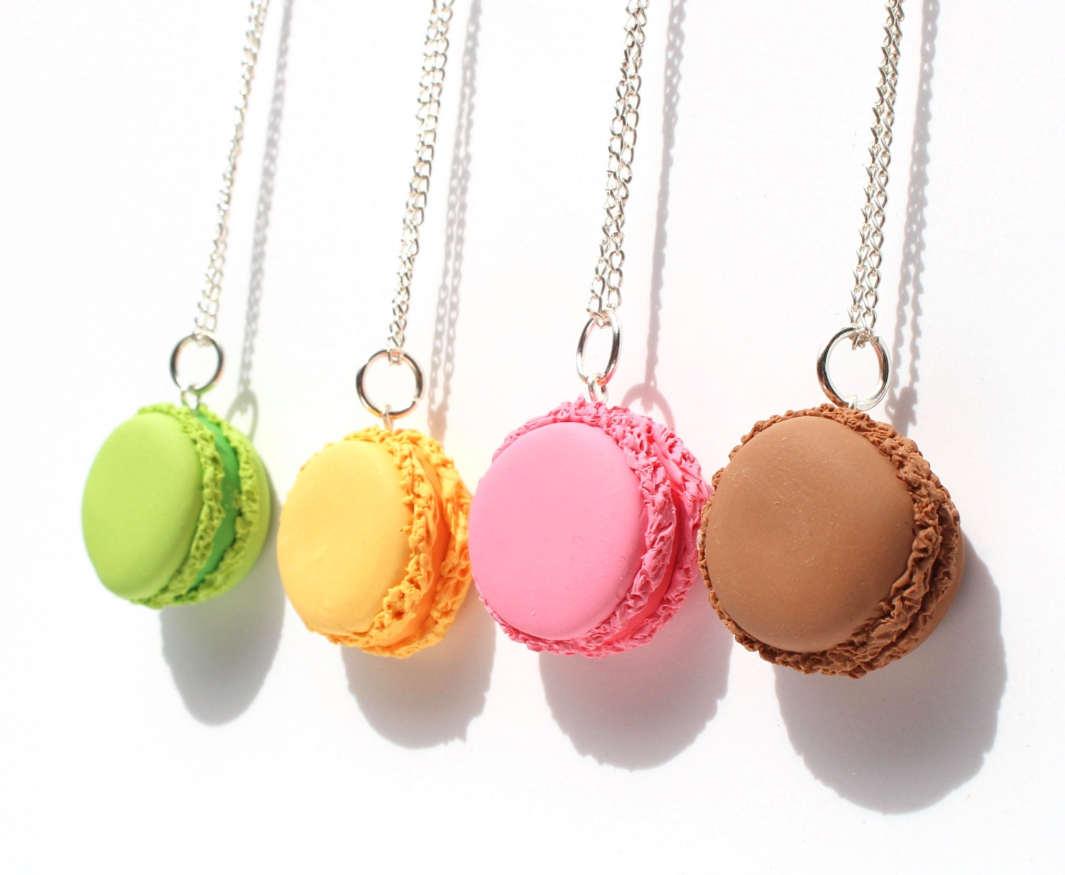 4 way friendship necklace french macaron best friend charms