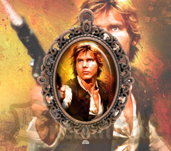 Chewbacca May The 4th Be With You: Han Solo Cameo Pendant / Collar / Chewbacca / Darth By