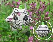 Fabric toy | Kitty Kiss & Kitty Lee | Kiss band | Superhero | Black and white | Kawaii print | Kids | Knuffel | Designer toy | NULZET
