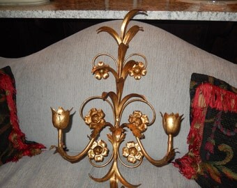ITALY FLORENTINE Candle Holder Wall Hanging