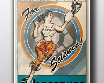 Chell Portal Pinup Poster Print