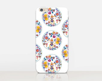 Pretty Floral Phone Case For - iPhone 8, 8 Plus, X, iPhone 7 Plus, 7, SE, 5, 6S Plus, 6S, 6 Plus, Samsung S8, S8 Plus, S7, S7 Edge