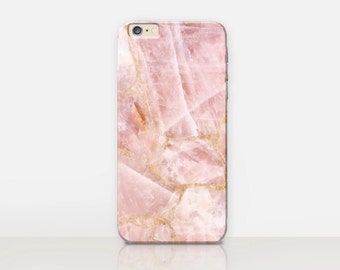 Pink Marble Phone Case For - iPhone 7 Case - iPhone 7 Plus Case - iPhone SE Case - Samsung S7 Case - iPhone 6S - Tough Case - Matte Case