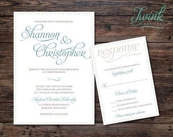 Printable Wedding Invitation | Rustic Wedding Invitations | Country Wedding Invitations