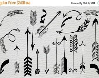 SALE Arrows Vector Arrow Doodle Hand Drawn Clip Art Tribal Arrows  Instant Download Commercial Use