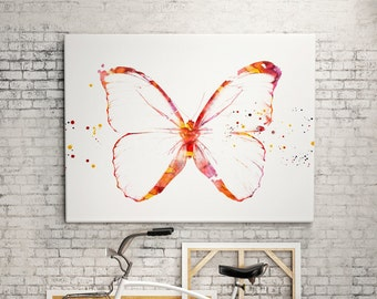 Watercolor butterfly print animal - abstract poster - illustration -Digital wall art Print - painting - Home decor