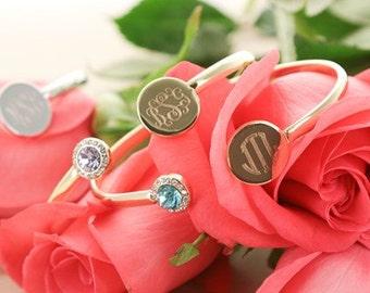 Monogram Birthstone Bracelet, Monogrammed Birthstone Bracelet, Monogram Bracelet, Monogrammed Bracelet, Personalized, Initial Bracelet