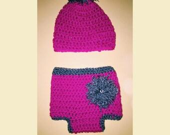 Hat & Diaper Cover Set