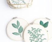 Mini Leaf Embroidery Hoop