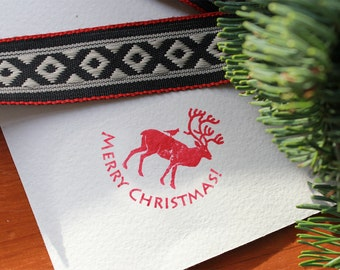 MERRY CHRISTMAS! rubber STAMP