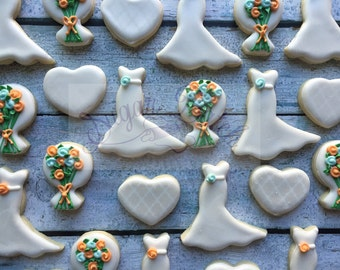 2 Dozen Mini Wedding Cookies Set