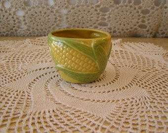 Rosemeade, Corn Sugar Bowl , Vintage 1940/1950, Wahpeton Pottery Company, North Dakota Pottery,Rosemeade Collectors Item