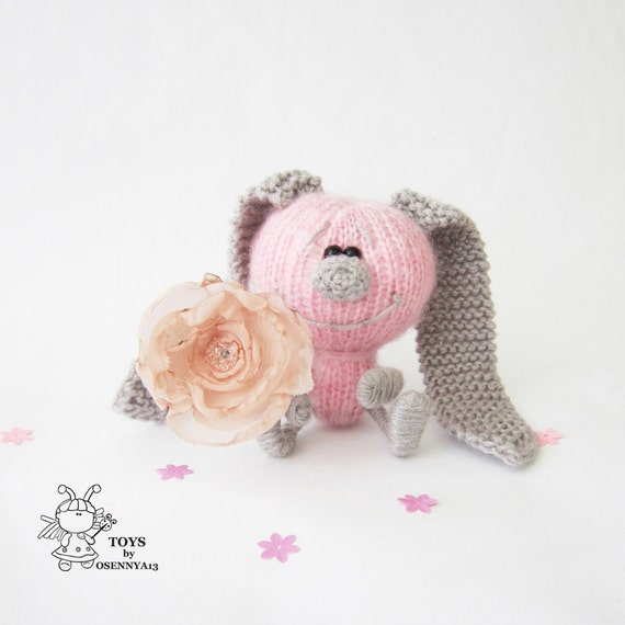 Amigurumi Bunny Ears : Bunny with colored ears- knitting pattern (knitted round ...
