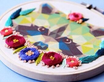Raccoon Embroidery Hoop Aty
