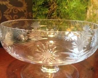 MOVING SALE Vintage crystal bowl