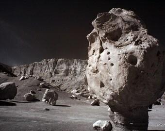 Balanced Rock, Cliff Dweller's, Infrared Fine Art Photography, Arizona, Metallic Paper  / Metal Print