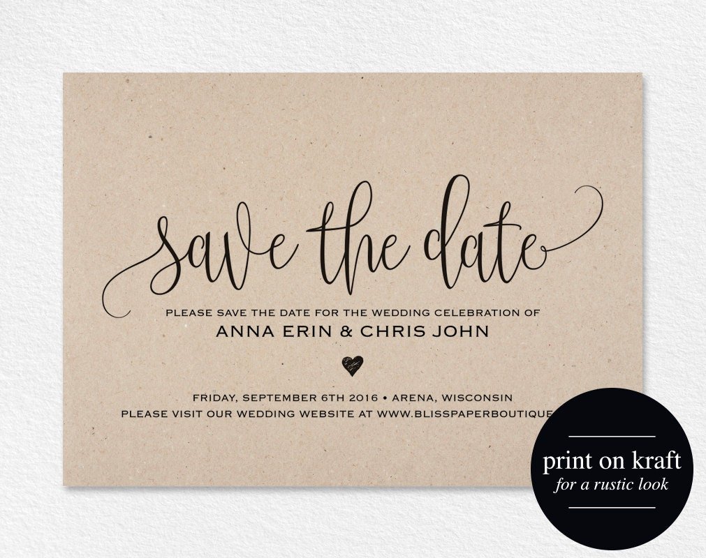 Save the Date Template Save the Date Card Save the Date